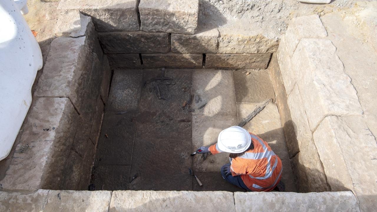 Remains from 60 graves have been found since construction for the Metro started. Picture: Supplied