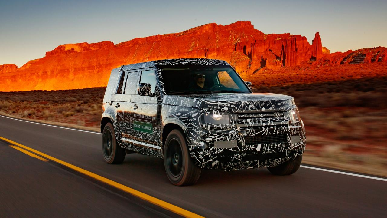 The new Defender is due to be officially unveiled in September.