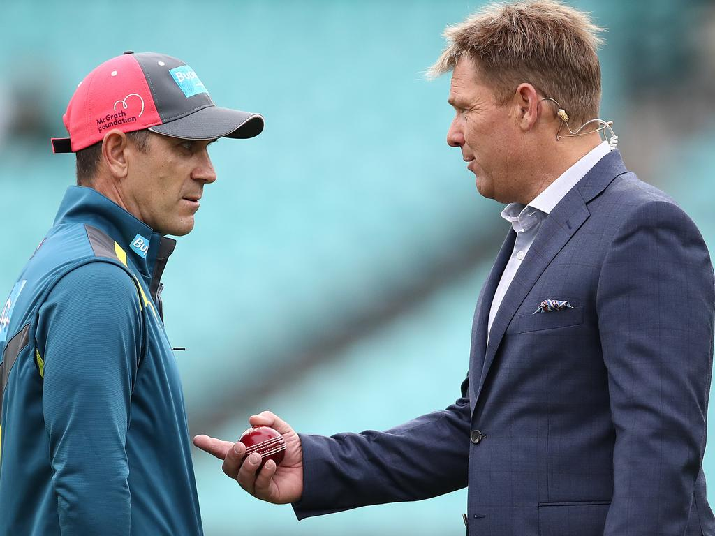 Warney has no problem telling Langer what he thinks to his face.
