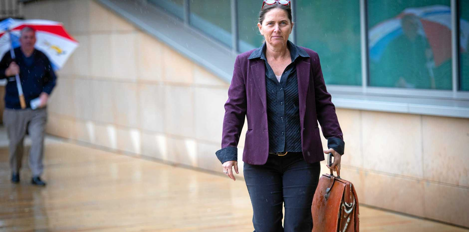 Sally Townley on her way to  Court hearing , challenging RMS information.. 24 JUNE 2019