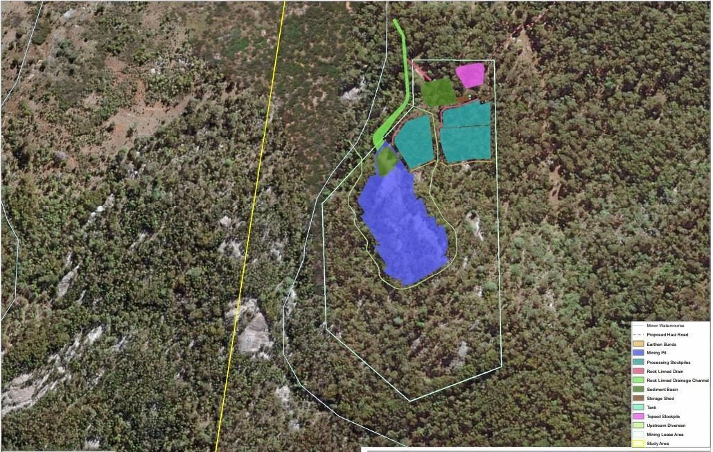 ROCK SOLID: The proposed area of the Cherrabah Granite Mine.