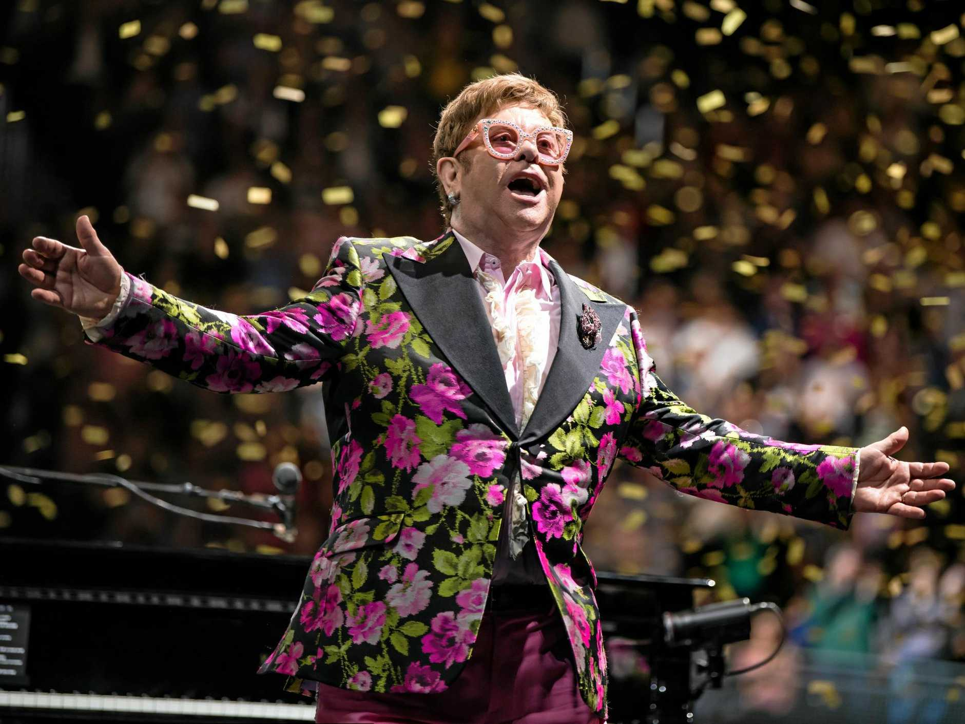 GET IN FAST: Tickets are selling fast for Sir Elton John's back-to-back Sunshine Coast shows.