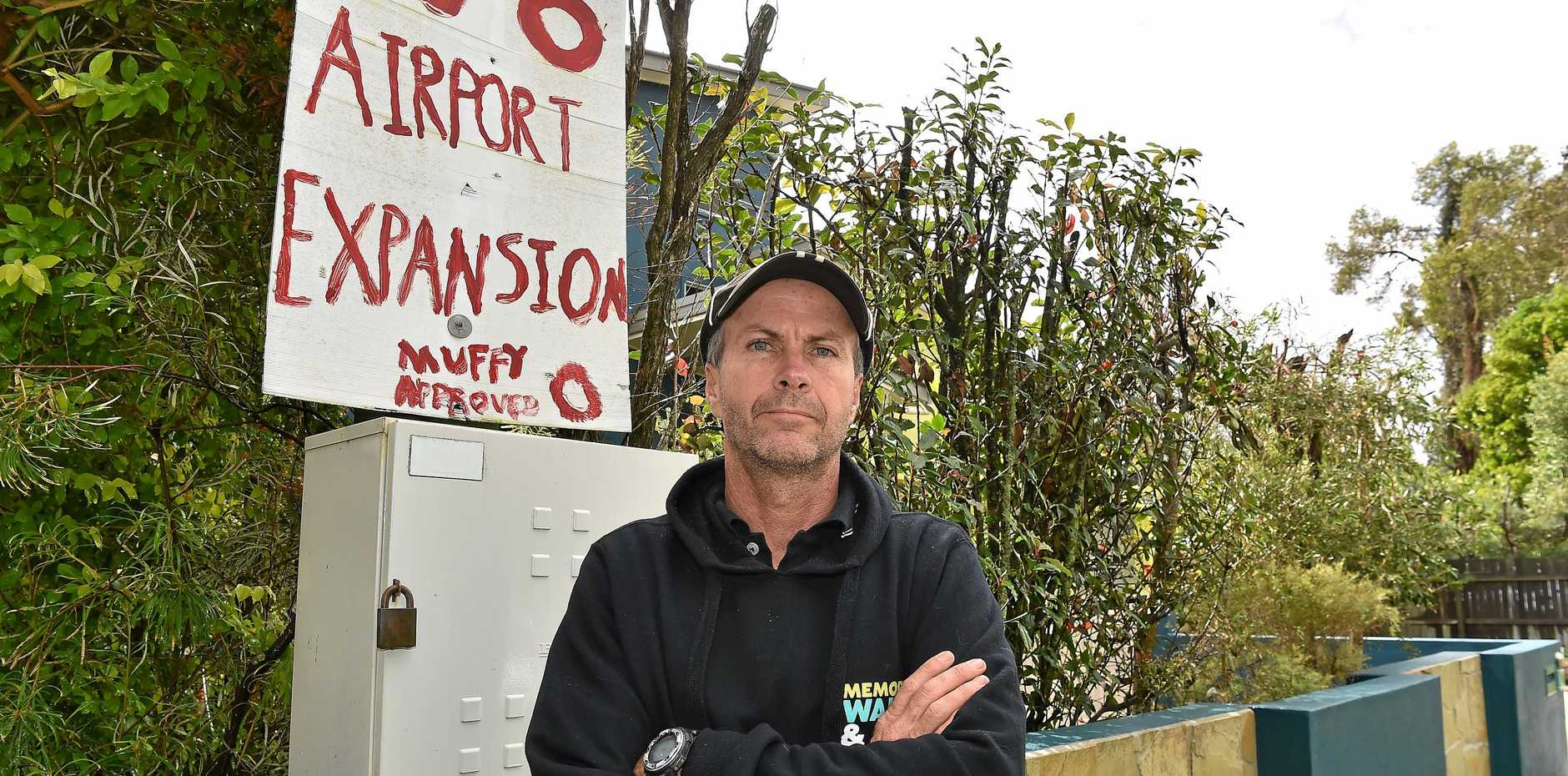 Cleveland Maltman is considering selling his Mudjimba home as he believes its value will drop with the new airport runway.