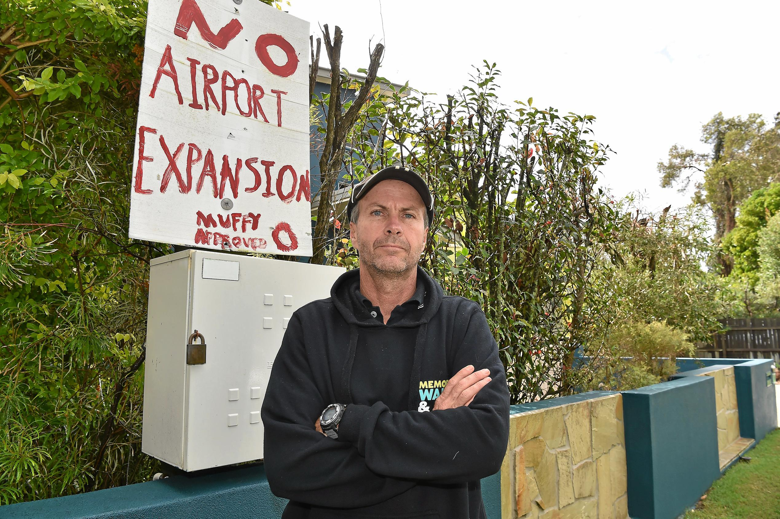 Mudjimba's Cleveland Maltman is considering selling his Mudjimba home as he believes its value will drop with the new airport runway.