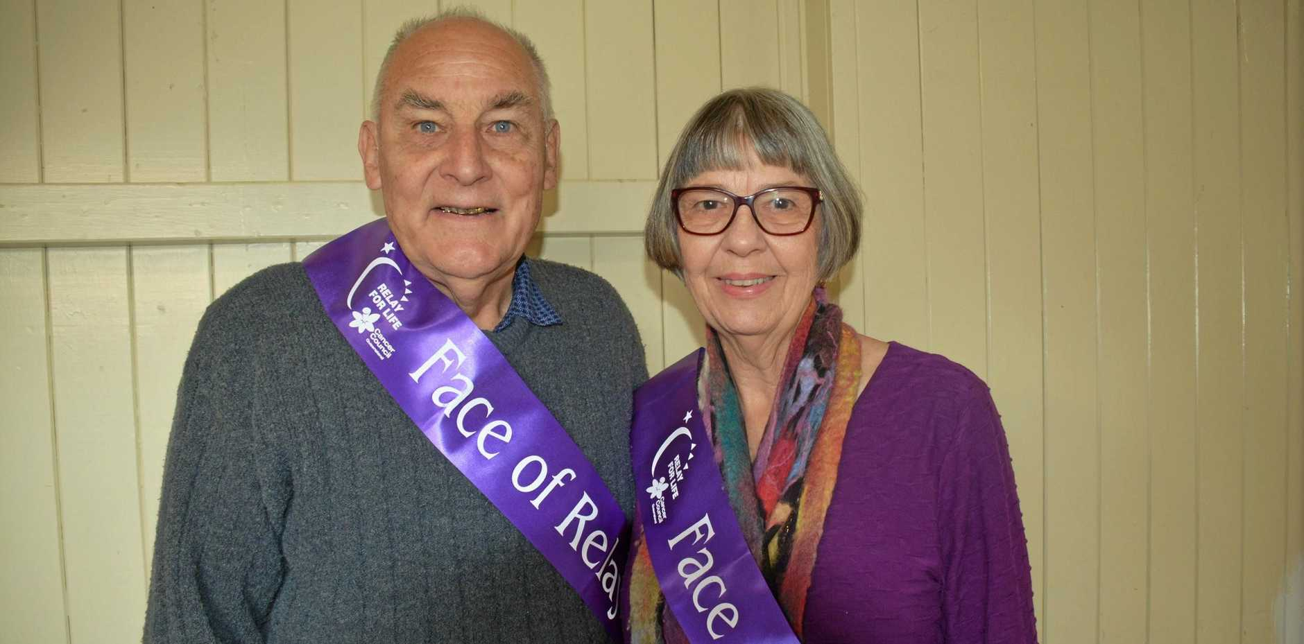 FACES FOR RELAY FOR LIFE: Josie's Biggest Morning Tea Eric and Carla Cross were the event's guest speakers.