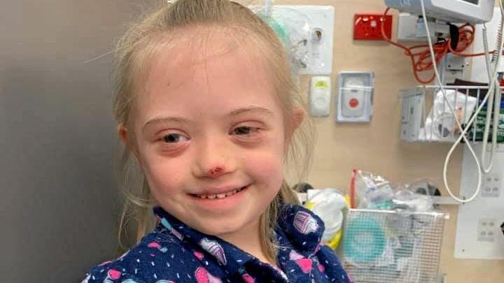 LITTLE FIGHTER: Little Zara Schleusener, 8, is back fighting for her life after her leukaemia relapsed last week.