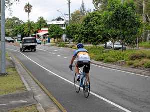Man runs over cyclist, crushes helmet, continues driving