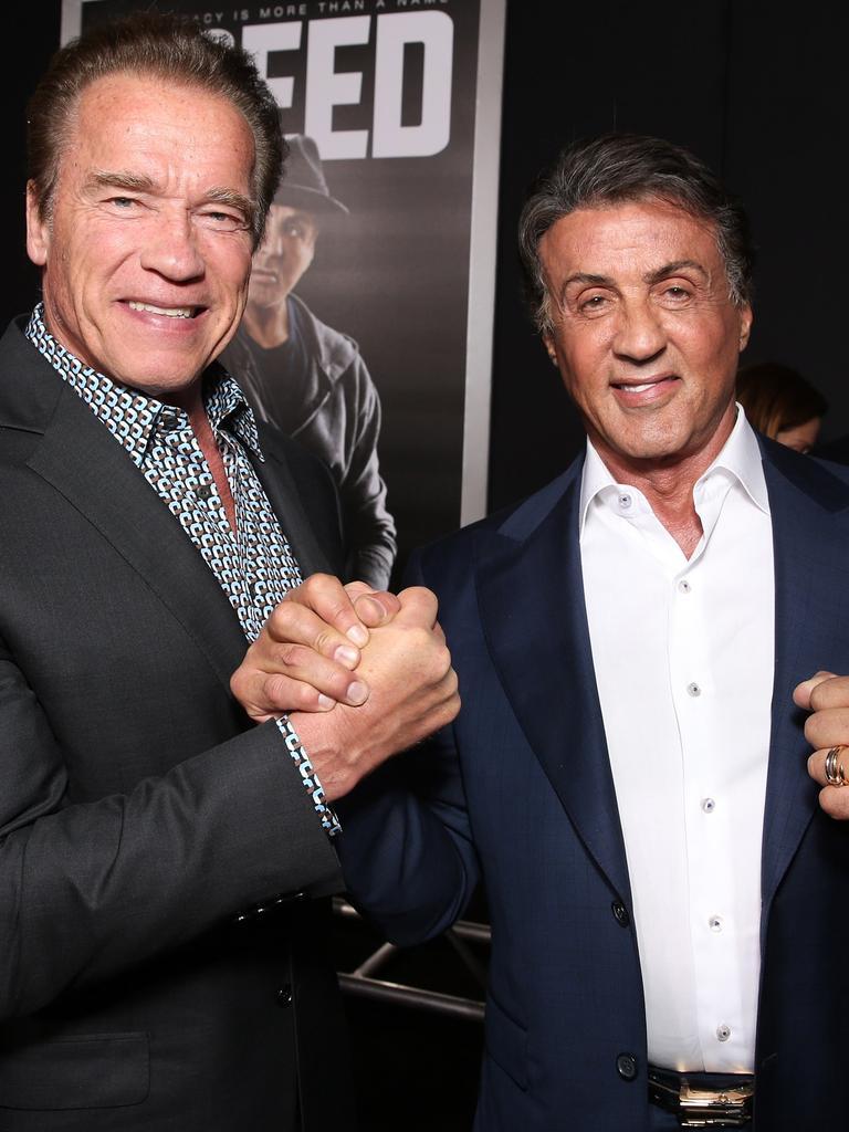 Arnold Schwarzenegger and Sylvester Stallone.