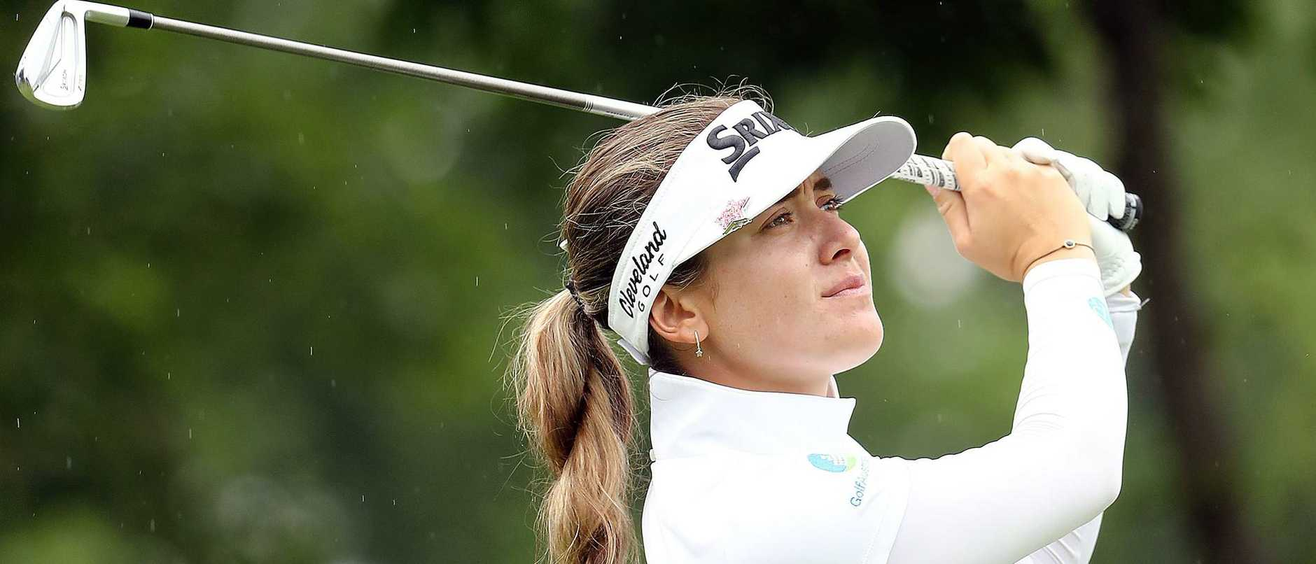 Hannah Green in action during the final round of the KPMG Women's PGA Championship.