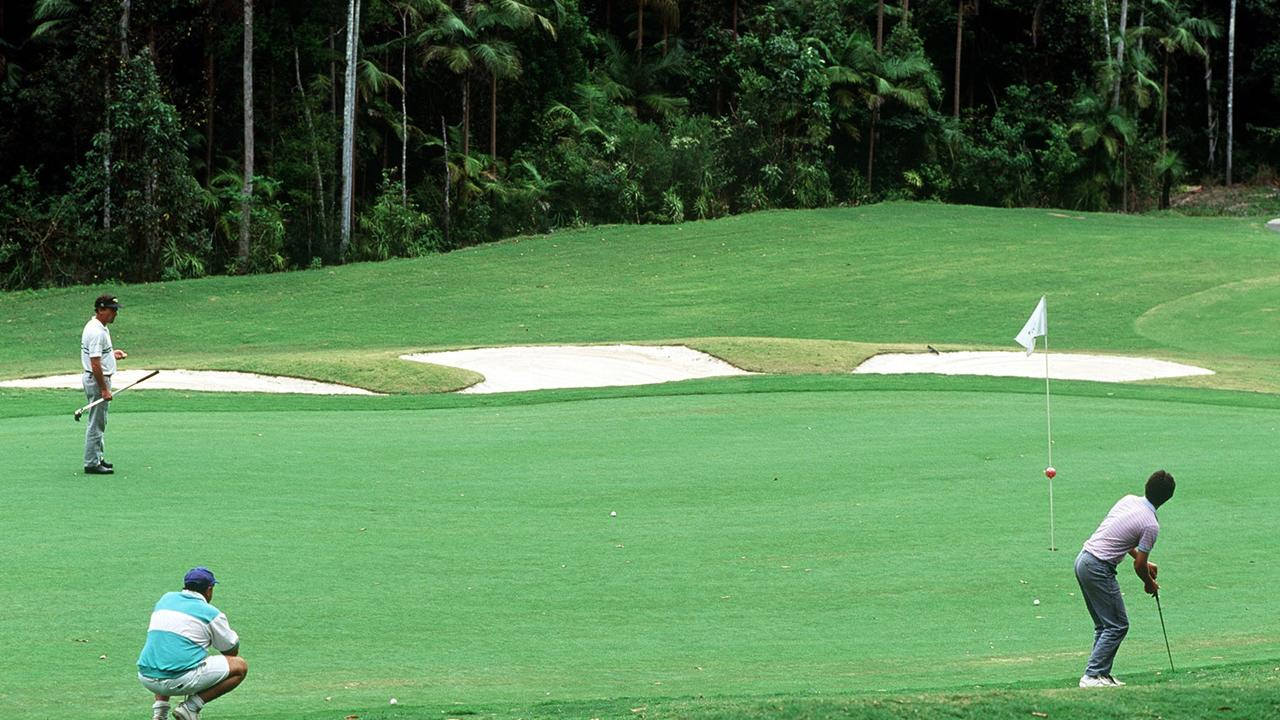 The fall happened at Bonville International Golf Club in Coffs Harbour.