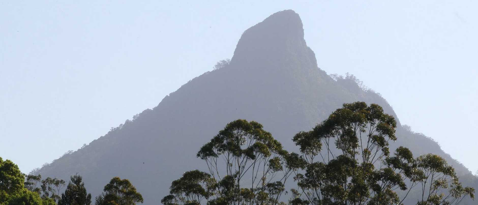 A woman has died while climbing Mt Warning.