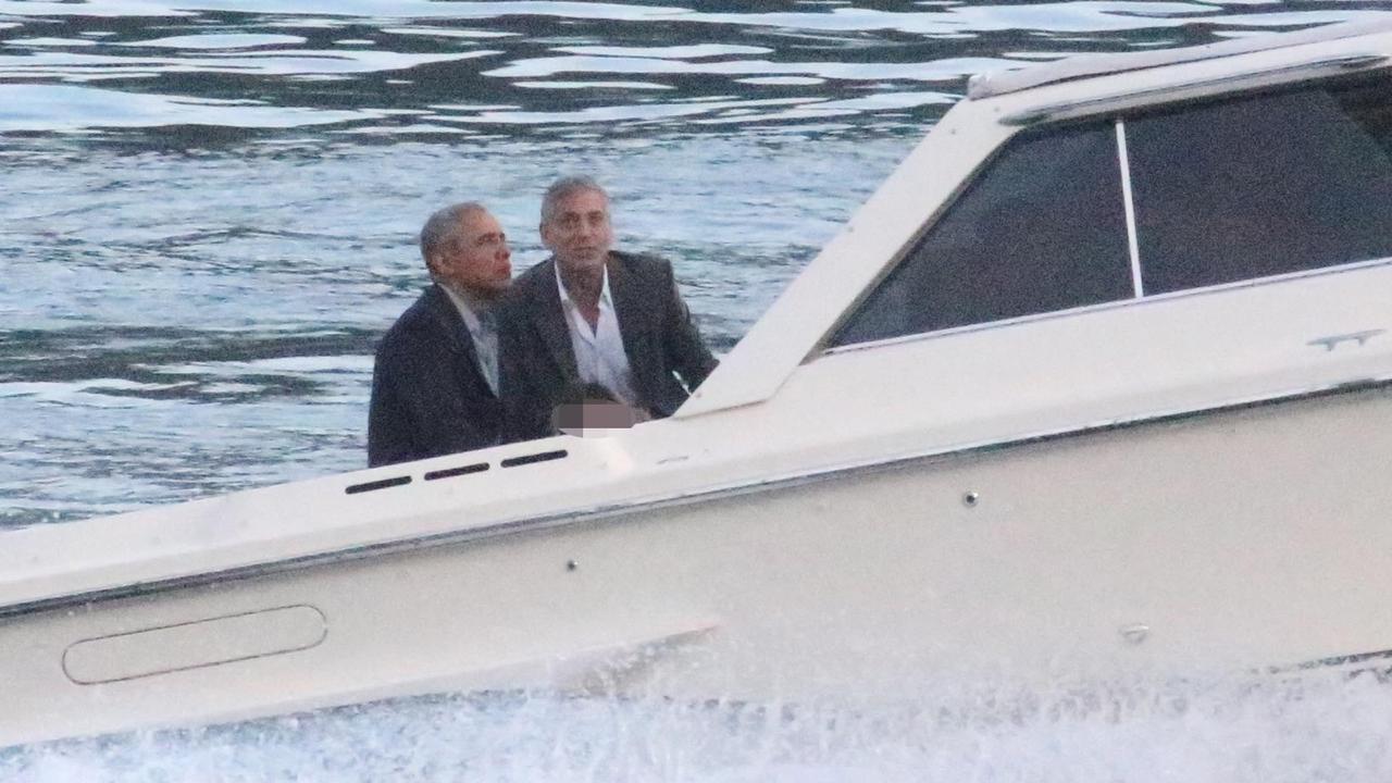 Barack Obama and George Clooney are buddies Picture: Matteo Bazzi/ANSA via AP