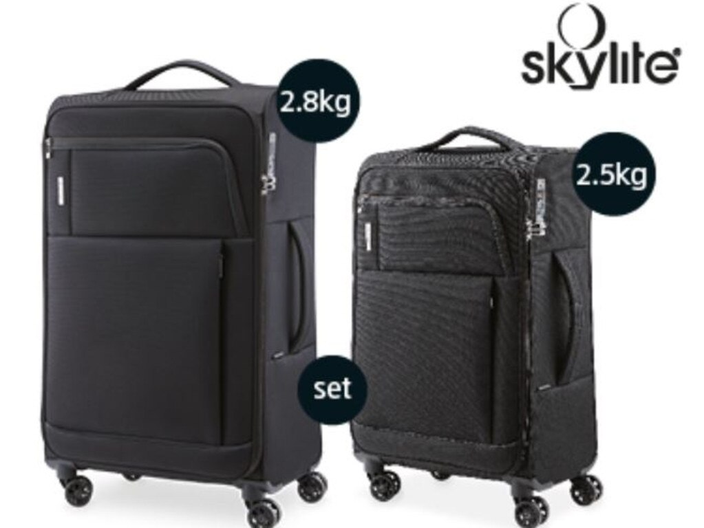 These hardworking suitcases are $89.99 for both.