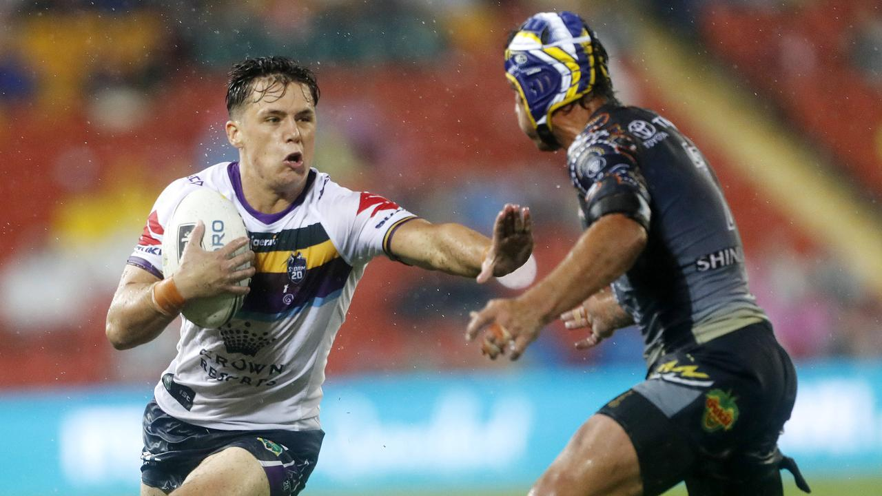 Scott Drinkwater drew comparisons to Billy Slater when coming through the grades at Melbourne Storm. Picture: AAP