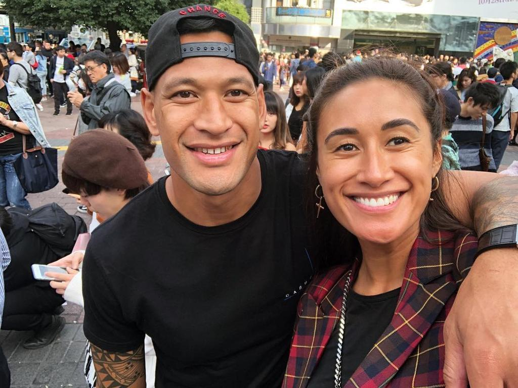 "A spokesman for Israel Folau, with his wife Maria, called GoFundMe's decision ""disappointing""."