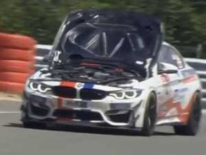 Racing car driver's hilarious fail