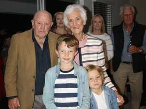 Max and Noela Bell with great grand children Max and