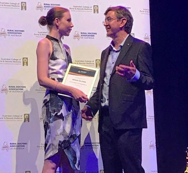 Megan Telford was named Medical Student of the Year last year.