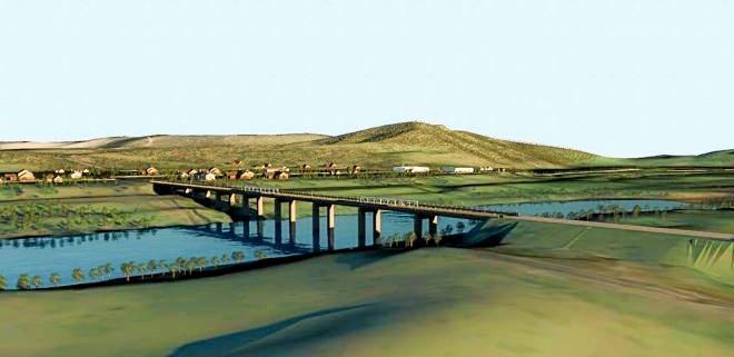 An artist's impression of the new Tabulam bridge.