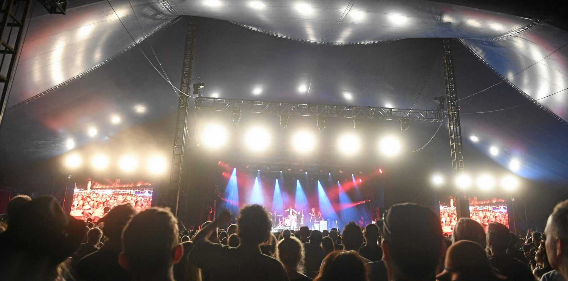 EVENT: One of the stages at the Byron Bay Bluesfest 2019 in Tyagarah.
