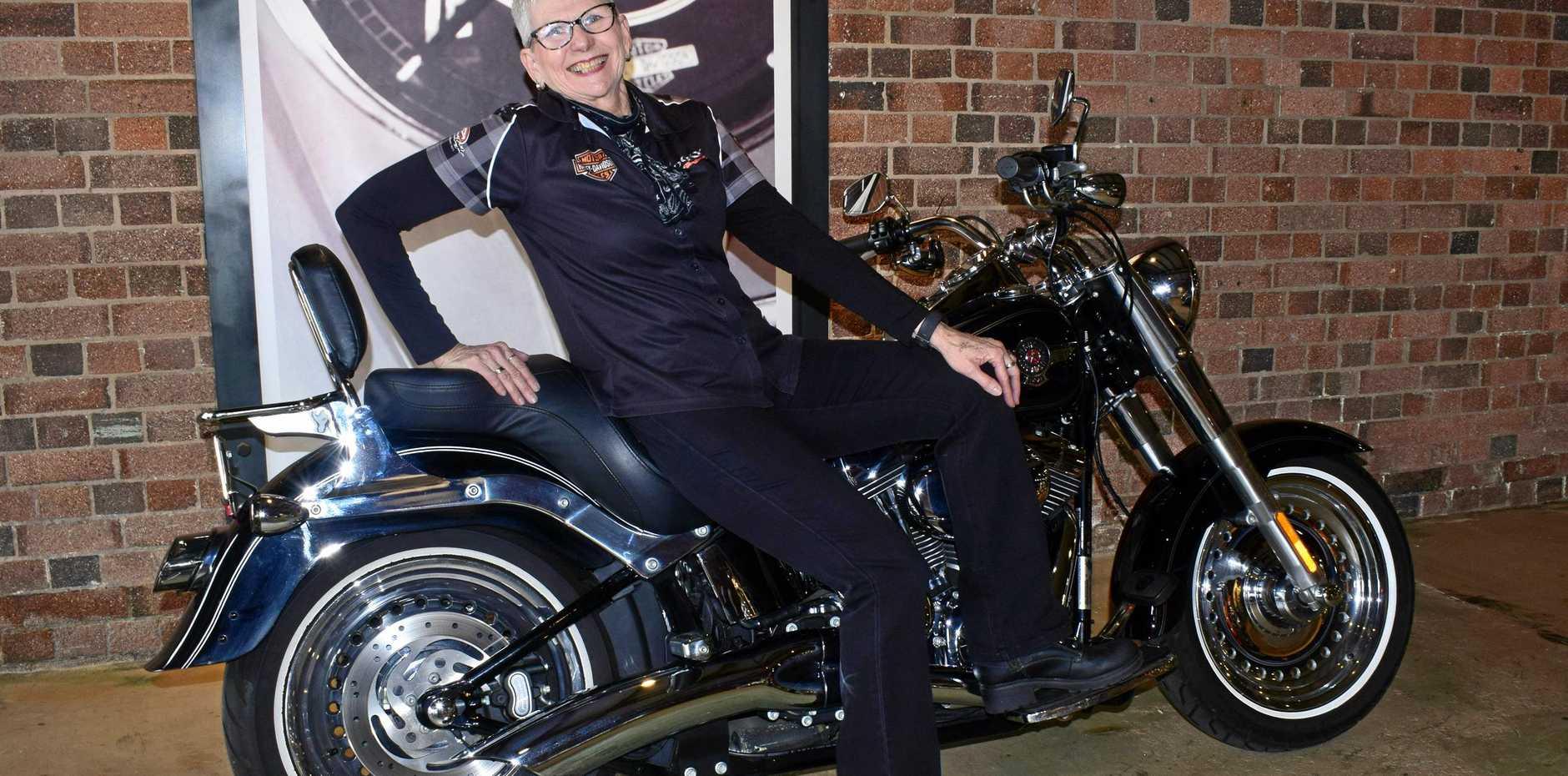 Carolyn Guley at Harley Davidson Rockhampton has organised the Purple Rose ride fundraiser this Saturday