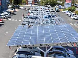 Solar car park driving energy savings