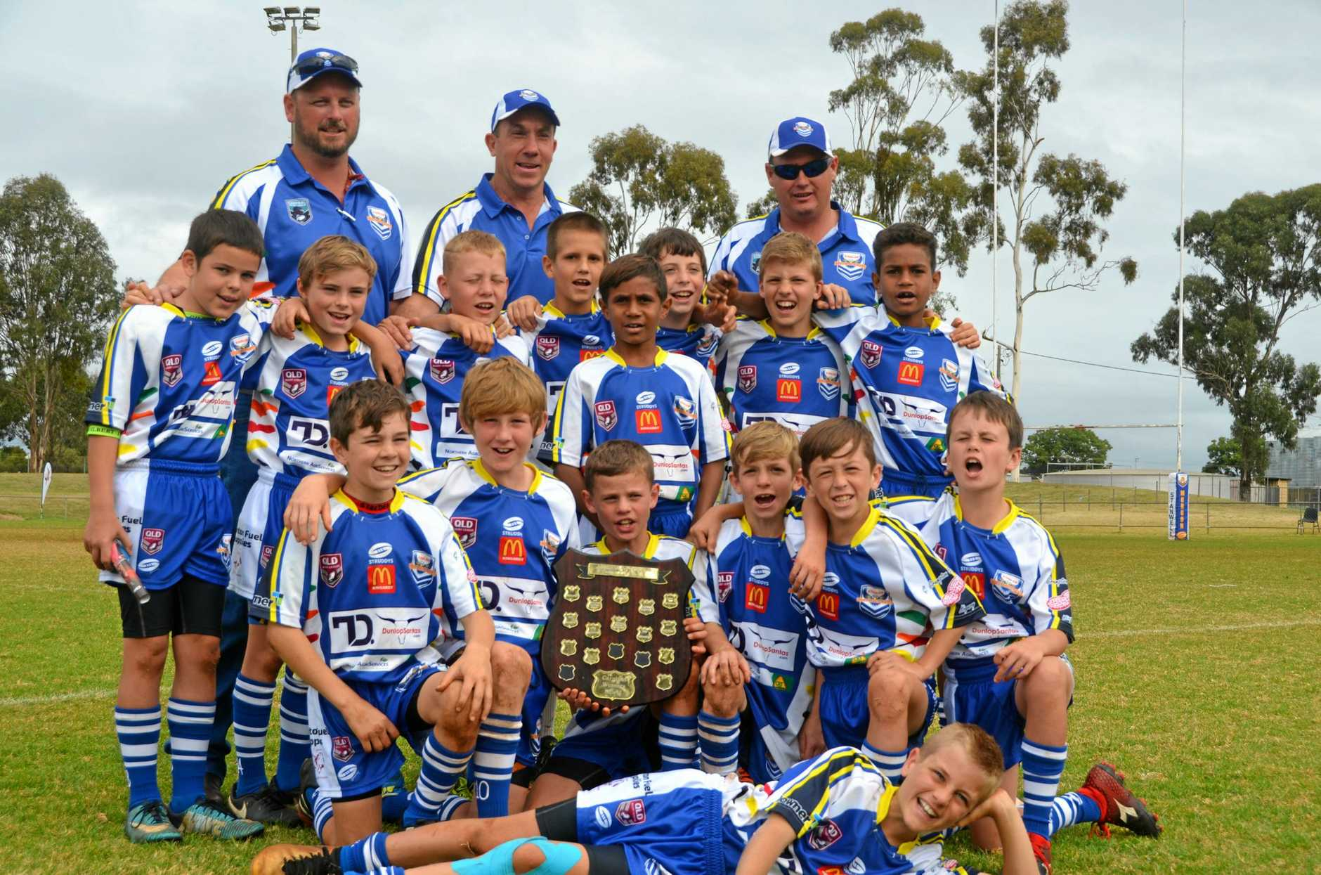 READY TO DEFEND: The South Burnett U35g team at the zone five carnival last year in Kingaroy.