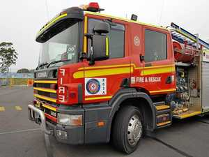 Truck partially destroyed by fire near Coast servo