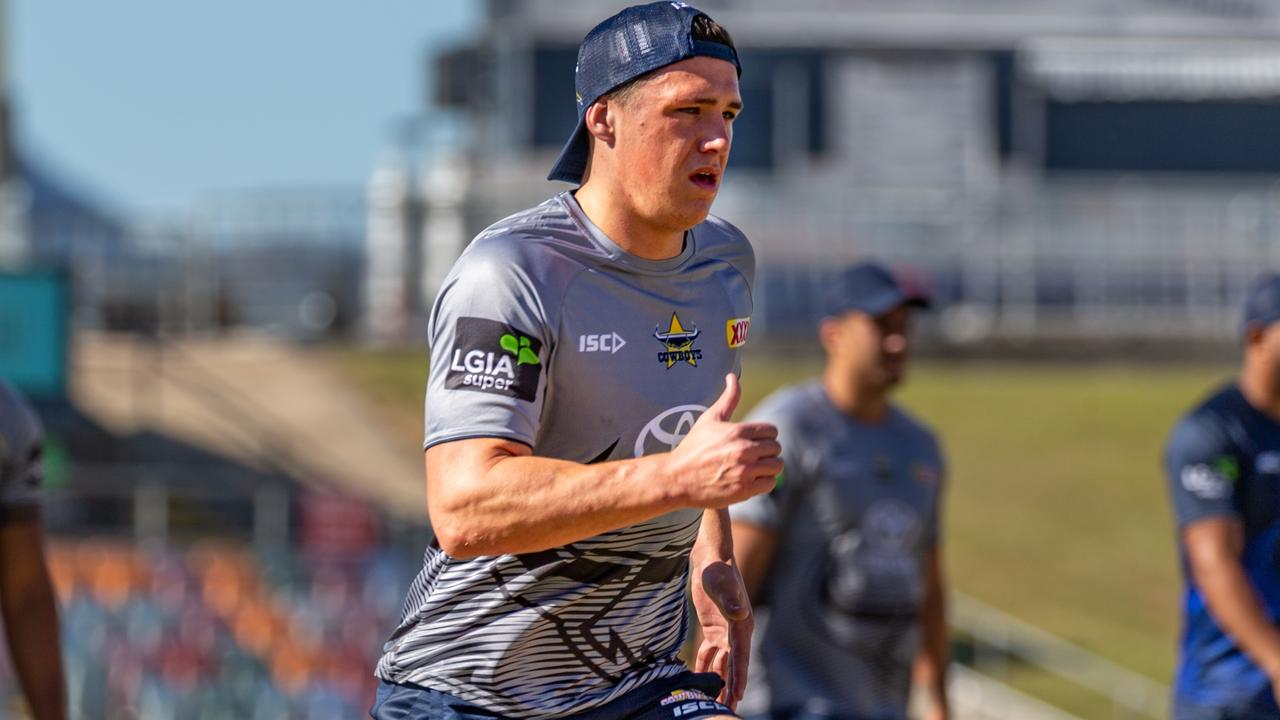 SAddling up ... Scott Drinkwater at Cowboys training this week.