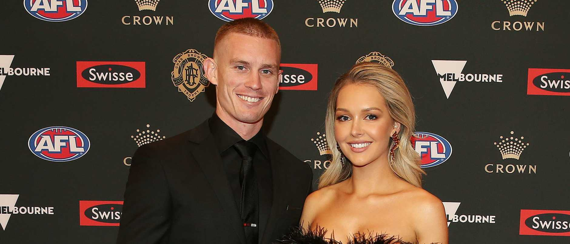 Dayne Beams and his wife Kelly. Picture: Michael Klein