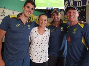 Barty lords it up with Aussie cricketers