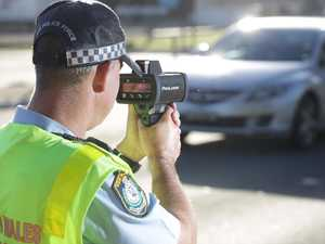 Driver caught speeding in school zone despite rain
