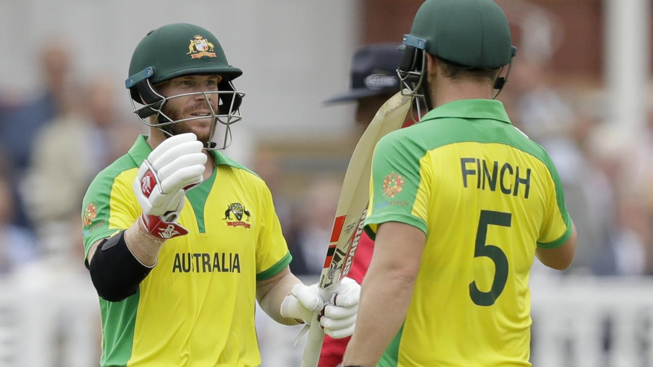 David Warner and Aaron Finch have put on three century and three half century stands from seven games at this World Cup.