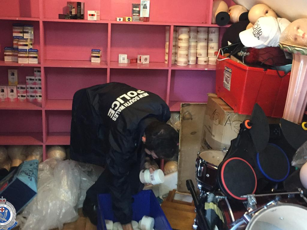 Police seized beauty products, baby formula and personal hygiene products when executing two search warrants. Picture: NSW Police Force