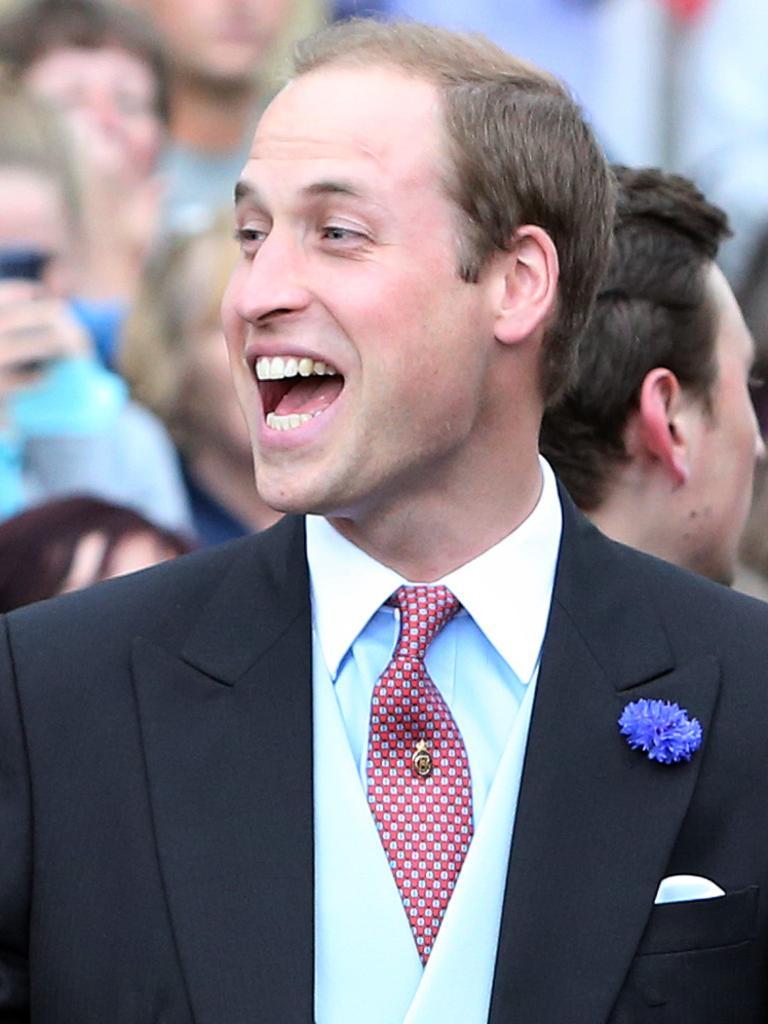 Prince William at Thomas van Straubenzee's first wedding. Picture: AP