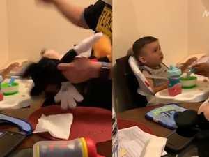 Shocking parenting trend bashing toys to make kids eat causes outrage