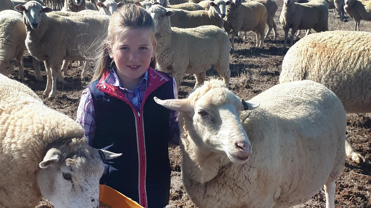 Abbey Wishart on her family property in Victoria.