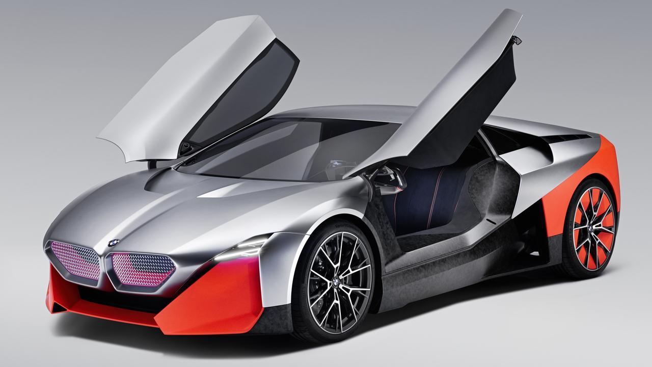 BMW Vision M Next concept previews the next-gen i8 hybrid supercar.