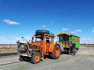 Meet the couple travelling Australia in a tractor
