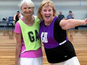 Walking netball courts seniors
