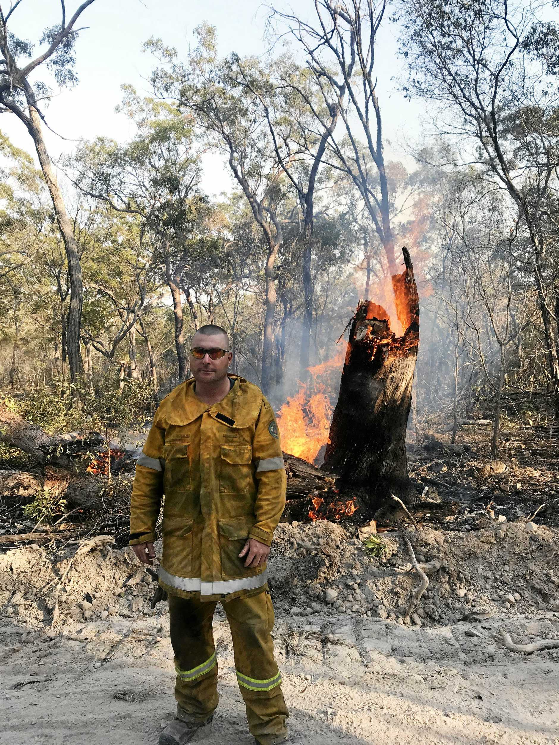 Adrian Reynolds was posted in the Australian Defence Force depot in Rockhampton - the only full-time ADF member in the 11th Engineer Regiment (11ER) at the time - when he raised his hand to help fight fires in Central Queensland.
