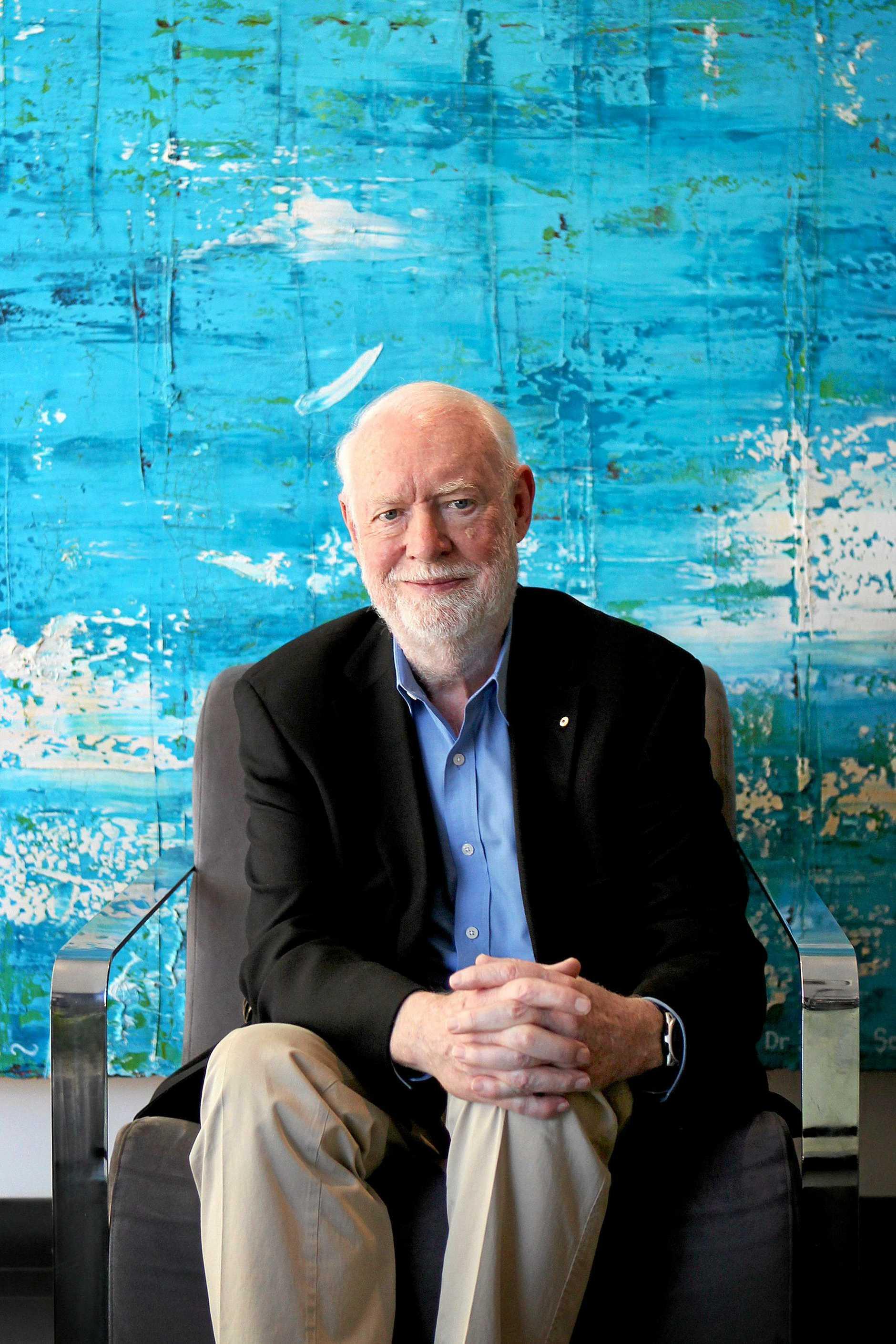 FILMS AT SEA: Film critic David Stratton.