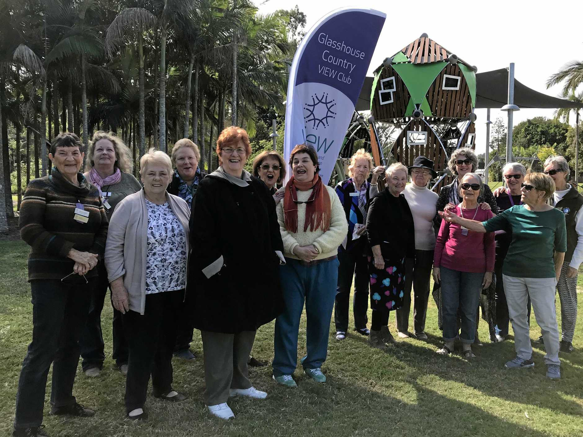 Glasshouse Country VIEW Club members had a sausage sizzle and a games morning at Glass House Park.