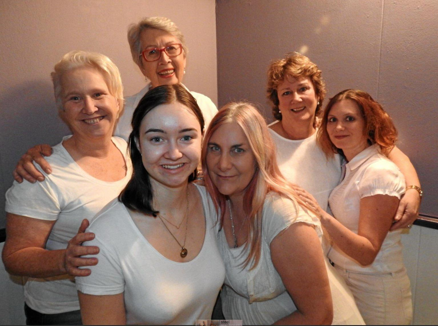 FAMOUS PLAY: Jacquie McCalman, Elyse Knowles, Jenny DowelL, Sinead Fell, Lisa Walmsley and Sharon Brodie are part of the production of Steel Magnolias by Lismore Theatre Company.