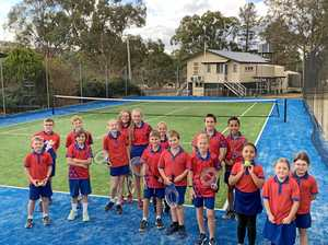 New tennis court at Greenlands