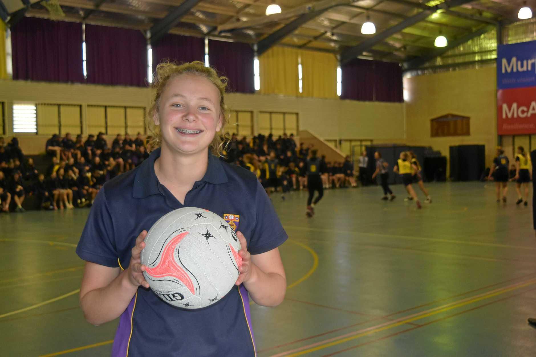 Kalei Brighton will captain the St Joseph's College netball team at the QISSN carnival in Bundaberg.