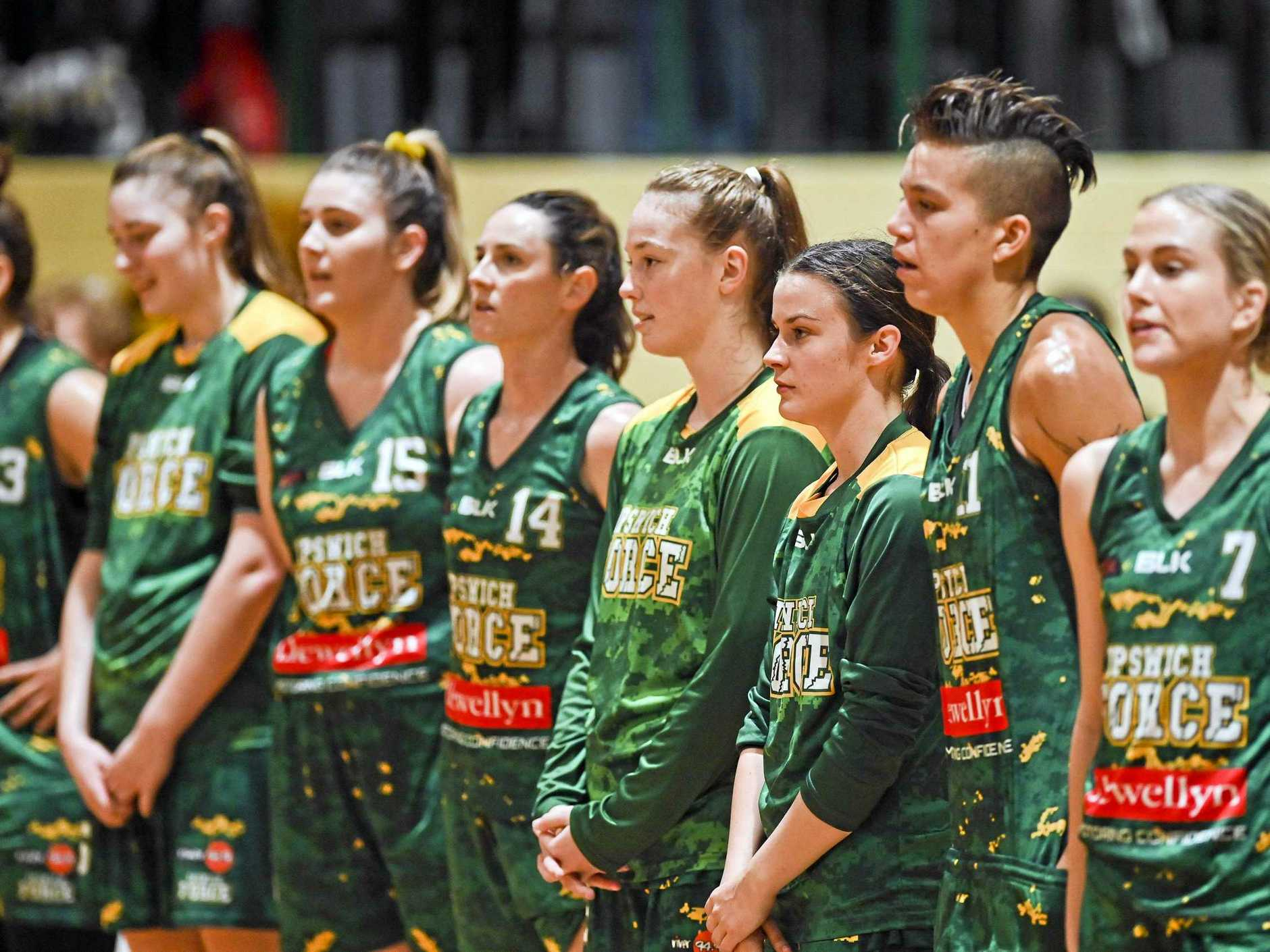 TIME TO FOCUS: The Ipswich Force women are hoping to build on their recent rise to third in the QBL.