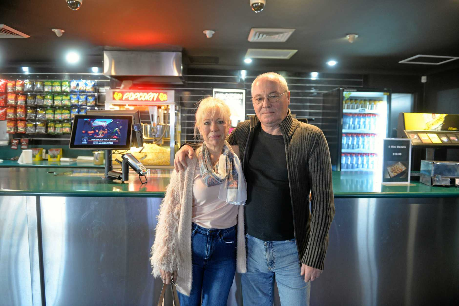 BEATLEMANIA: Movie lovers and music fans, like Jenny Webb and John McDonald (pictured) rejoice as their two favourite things combine.
