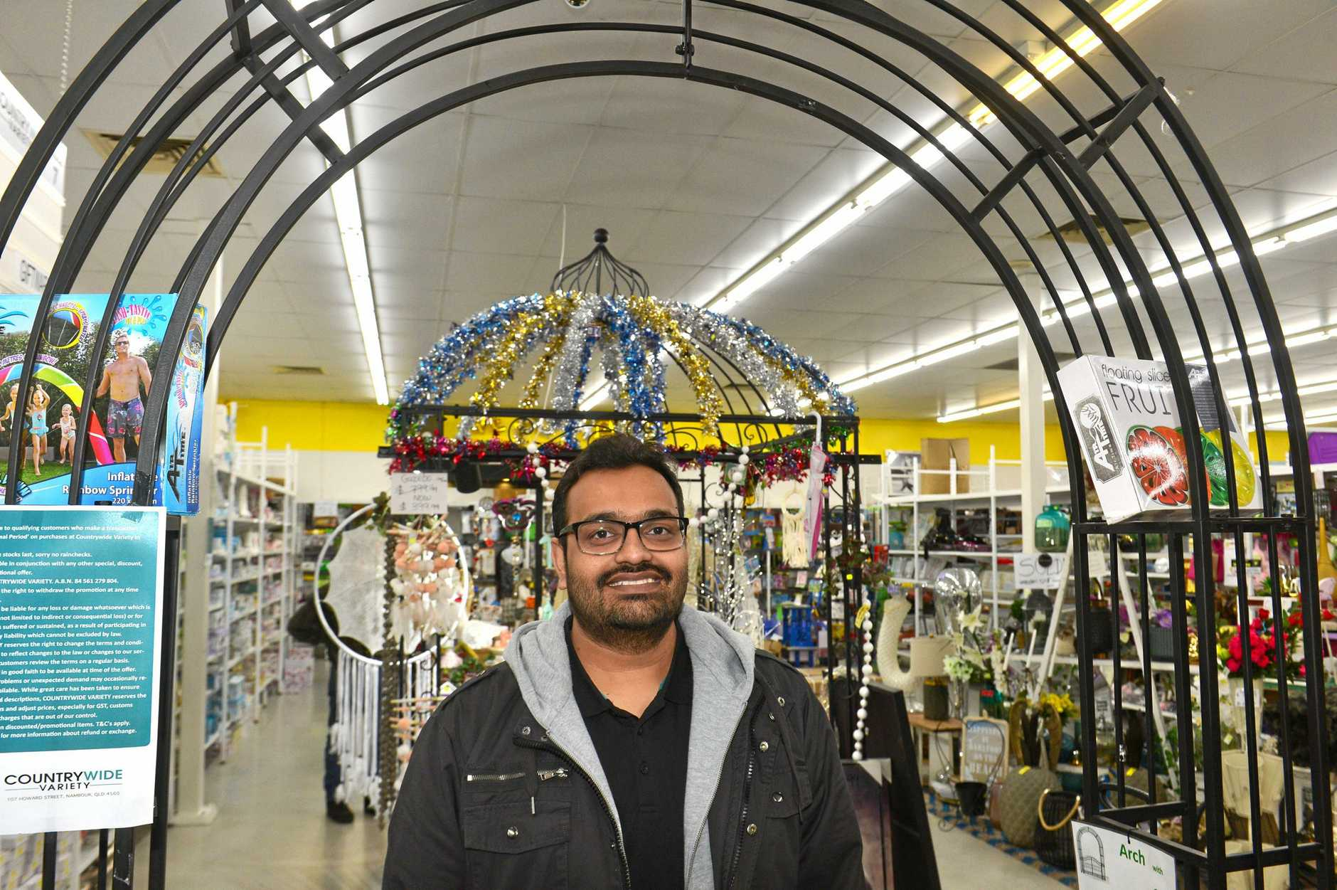 BYE: Store owner Uttam Raiyani is closing his Nambour business.