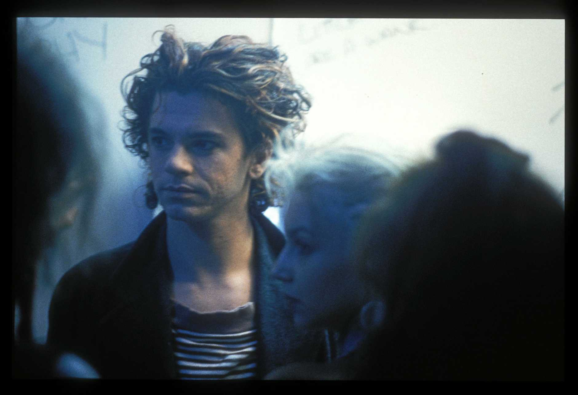 Michael Hutchence in a scene from the movie Mystify: Michael Hutchence. Supplied by Madman Films.